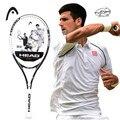 Оригинальная Черная Профессиональная теннисная ракетка для тенниса, карбоновая Теннисная ракетка с сумкой, амортизирующая ракетка Raquete De ...
