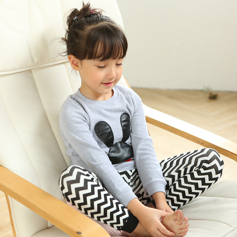 Childrenswear 2018 New Style Children Tracksuit Pure Cotton CHILDREN'S Pajamas Korean-style Underwear Suit Agent