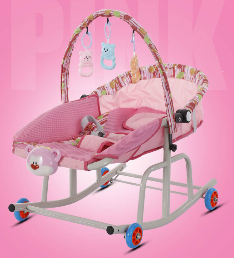 Hce2c6f774dd047e5817462132626be38T Baby  Rocking Chair Music Nursery Child Toy Rocking Chair Baby Rocking Horse Infant Seat Bouncer Swing Cradle Recliner Bouncer