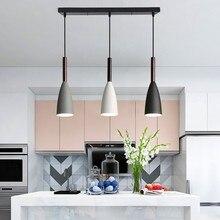 E27 luzes pingente led lustres nordic lâmpada pendurada minimalista luz pingente para cozinha sala de jantar iluminação luminária luz