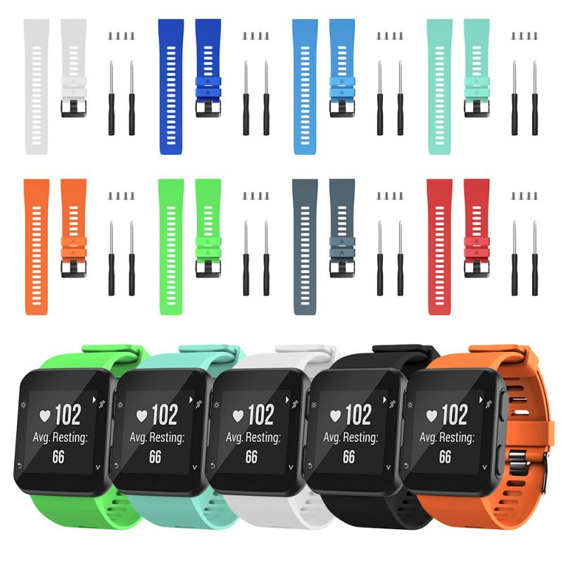 Fashion Silicone Original Sport Watch Band For Garmin Forerunner 35 Watch Replacement Smart Watch Fashion Portable Accessories