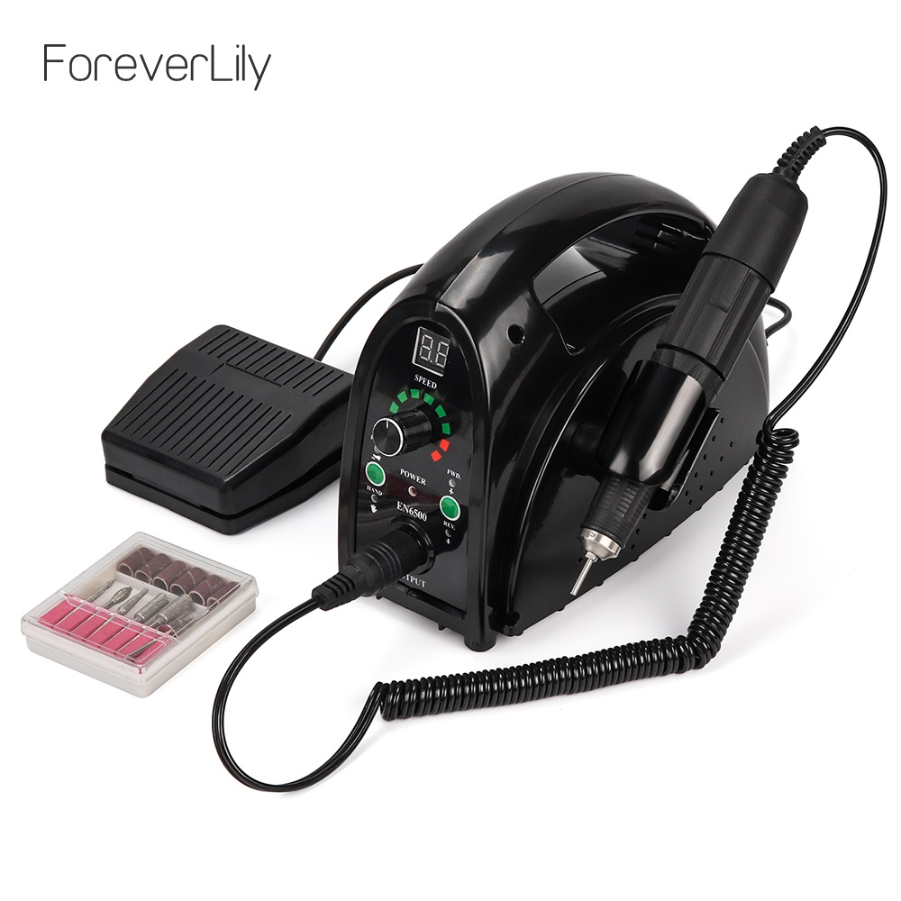 Forte 65w Máquina Elétrica Prego Broca 35000rpm Manicure Pedicure Ferramentas Acessórios Arquivo Brocas Prego Equipamento Da Arte do prego Com LCD