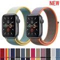 Ремешок для Apple Watch band 5 44 мм/40 мм спортивный ремешок iwatch band 42 мм 38 мм correa pulseira apple watch 5 3 4 ремешок для часов из нейлона