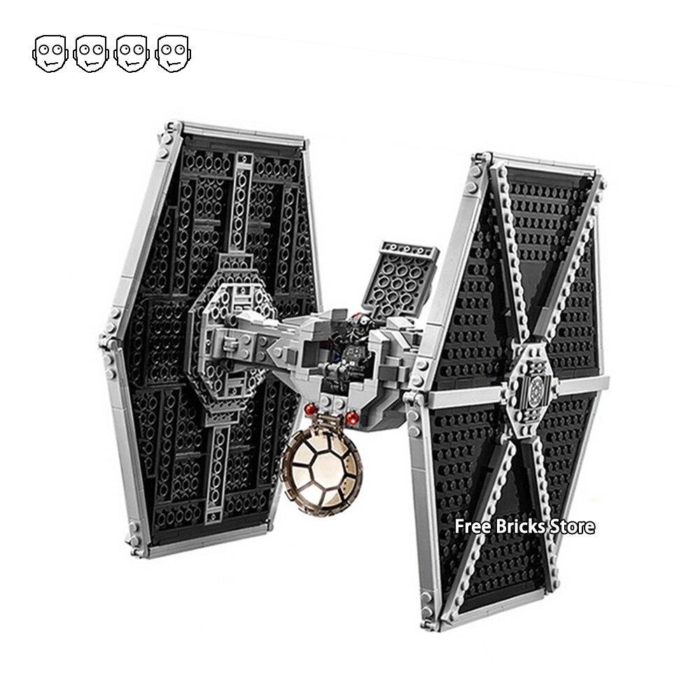 Fit Star Series Wars 75211 impérial TIE Fighter Figures 75101 bricolage blocs de construction éducatifs jouets pour enfants cadeaux Bela 10900