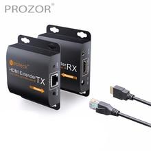 Proster 1080P HDMI Ethernet ağ genişletici üzerinde tek RJ45 Cat6 Cat7 kablo HDMI genişletici 60m HDMI tekrarlayıcı IR uzaktan kumanda ile