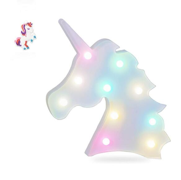 2019 Unicorn Light Unicorn Party Lamp LED Marquee Letter Animal Kids Bedroom Table Lamp Wall Decoration LED Night Light