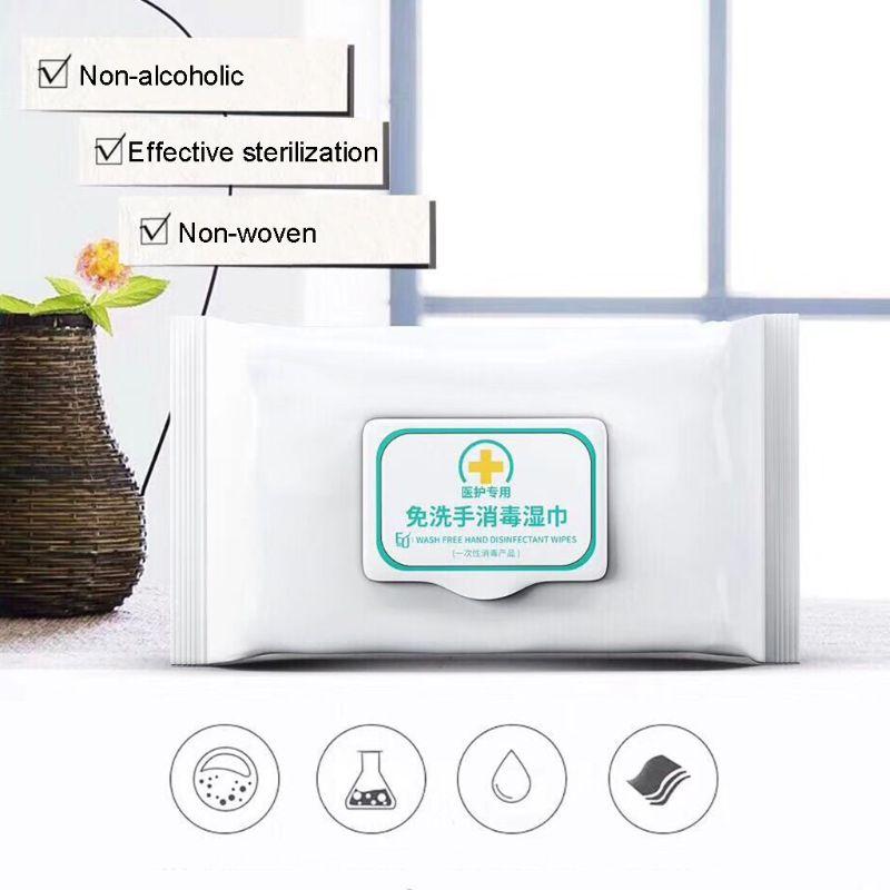 50Pcs NO Alcohol Wet Wipes Portable Disinfection Pads Sterilization Antiseptic Hand Sanitizer Wipes Sterilization