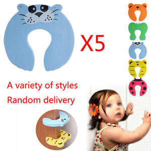 Door-Stopper Finger-Protector Newborn-Care Baby-Safety Security Child Cute 5pcs/Lot Card-Lock