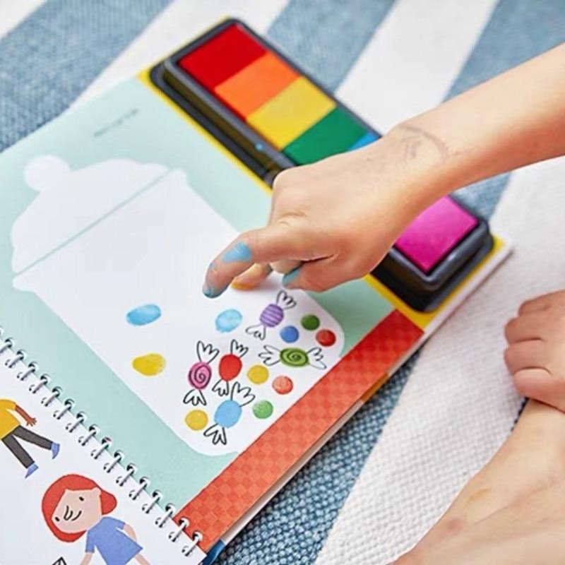 almofada de tinta criancas atividades rabiscando livro 02