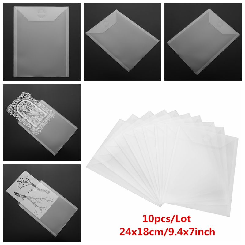 10Pcs Large Die & Stamp Storage Bag Used To Store Cutting Dies Hot Foil Plates Embossing Folders Organizer Holders Bags