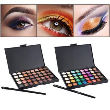40 Color Eye Shadows Palette Matte Glitter EyeShadow Diamond Shimmer Eye Shadow Palette With Brush Eye Cosmetic тени TSLM1 1