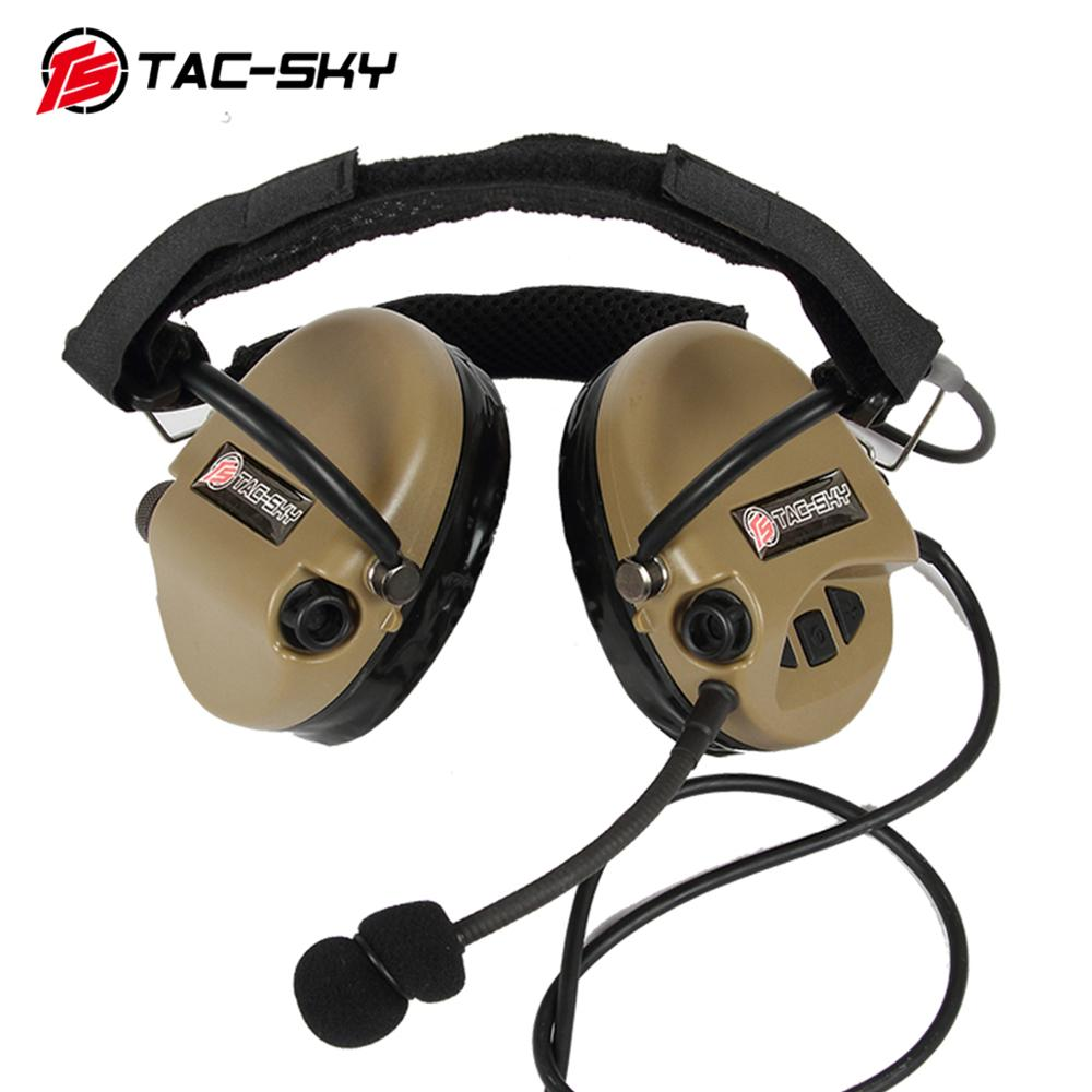 TAC-SKY TCI LIBERATOR II Softair Headphones SORDIN Silicone Earmuffs Noise Reduction Pickup Tactical Military Headphones DE