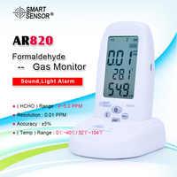 SMART SENSOR AR820 Formaldehyde Detector 5 Ppm Pollution Meter Test Hcho Gas Detector Indoor Air Quality Monitor Measurement