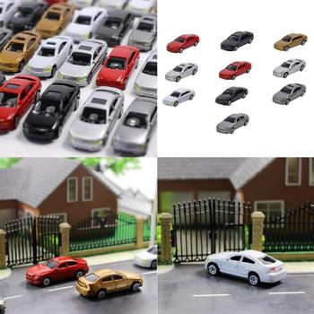 10 Pieces 1/87 Scale Mini Vehicle Model Plastic Cars Sand Table Accessories image