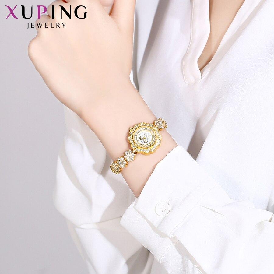 Xuping synthétique zircon cubique montre femmes exquis en forme de cadeaux à la mode coloré Luxulry Quartz montre 00015 - 5
