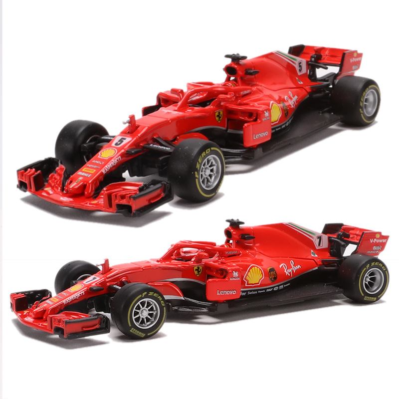 <font><b>2018</b></font> Ferrari Racing Formula <font><b>F1</b></font> Alloy Diecast Car Models 1/43 Collectable Toys Miniature Cars Metal Static Simulation Mini Car image