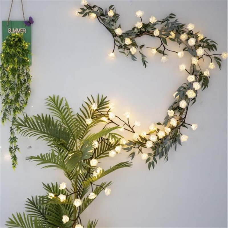 6M 3M Led Rose Flower Fairy String Lights AA Battery Powered Flexible Garland Light For Wedding Valentine's Day Event Party Led