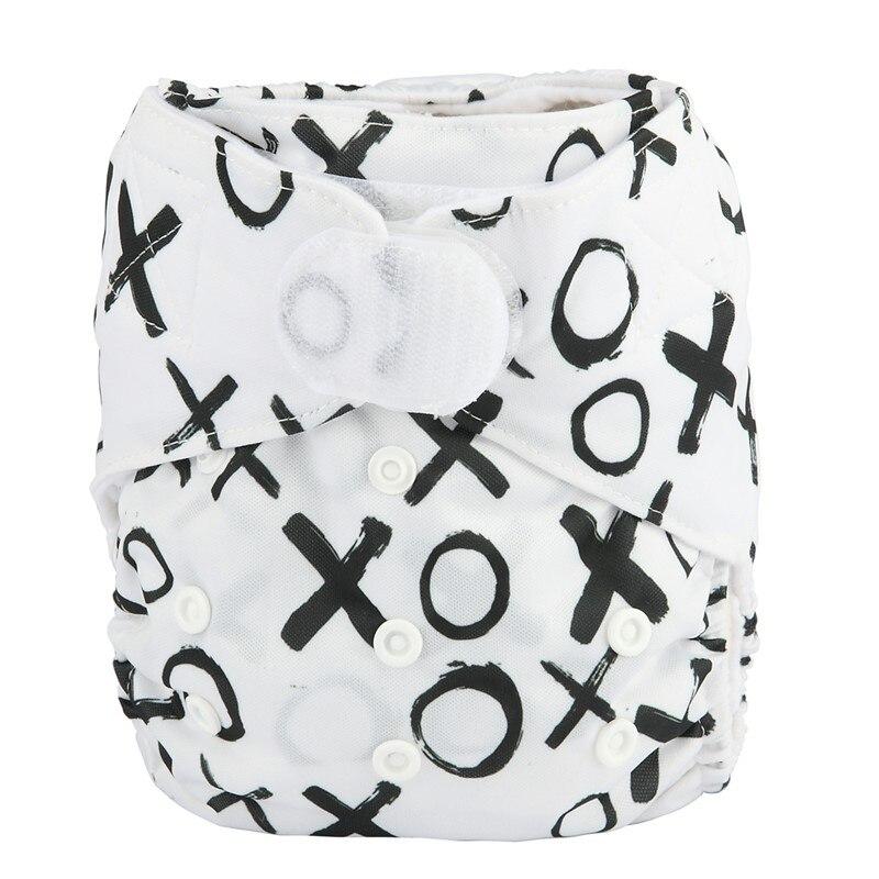 [Sigzagor] 1 тканевый подгузник с карманами для детей, подгузник с застежкой-липучкой, с широкими полосками на талии - Цвет: DV27