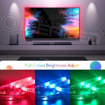 RGB TV Led lights Strip Backlight 5050SMD Color Changeable for 40-60 inch HDTV USB 5V LED with RF Remote Kit