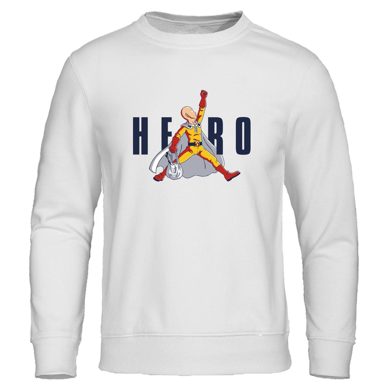 Japanese Anime Saitama Hero Hoodie One Punch Man Hoodie Sweatshirt Men Cosplay Streetwear Mens Autumn Warm Pullover Casual Hoody