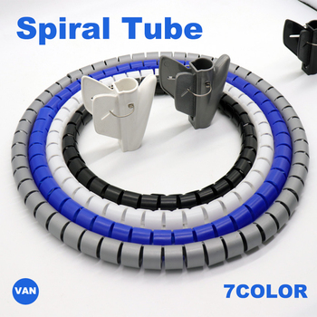 1M 3FT Cable Wire Wrap Organizer Spiral Tube Cable Winder Cord Protector Flexible Management Wire Storage Pipe