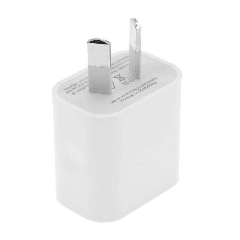 ALLOET AU enchufe Dual puertos USB cargador de teléfono móvil carga rápida 5V 2A salida adaptador de corriente enchufe de pared de viaje para iPhone Xiaomi Verdadero yo X50 X 50X5G 8GB 128GB 6,57