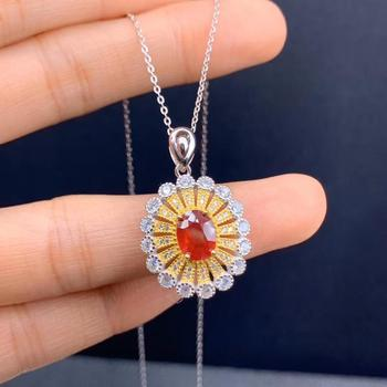 New natural ruby necklace 925 sterling silver high end jewelry gold plated inclusion certificate