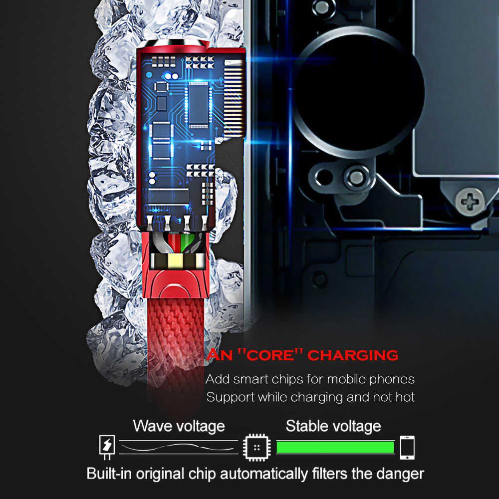 Cavo USB 90 Gradi Cavo di Dati del Caricatore per il iPhone 11 Pro XS MAX XR X 8 7 6s Plus cavo di ricarica Del Telefono Mobile Veloce del Caricatore del Cavo