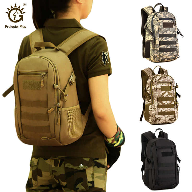 Protector Plus 12L MolleTactical Small Backpack,Waterproof Mini Military Backpack,Outdoor Sport Travel Rucksack bags for kids