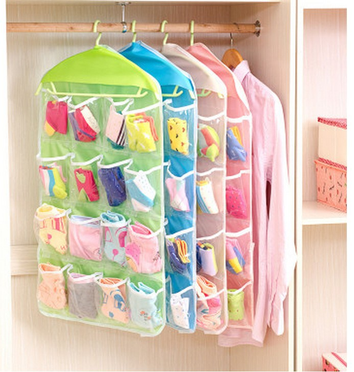 Vogvigo Transparent Underwear Socks Storage Bag Dustproof Cloth Cover Bags Wardrobe Dust Cover Clothes Protector Coat Dust Cover