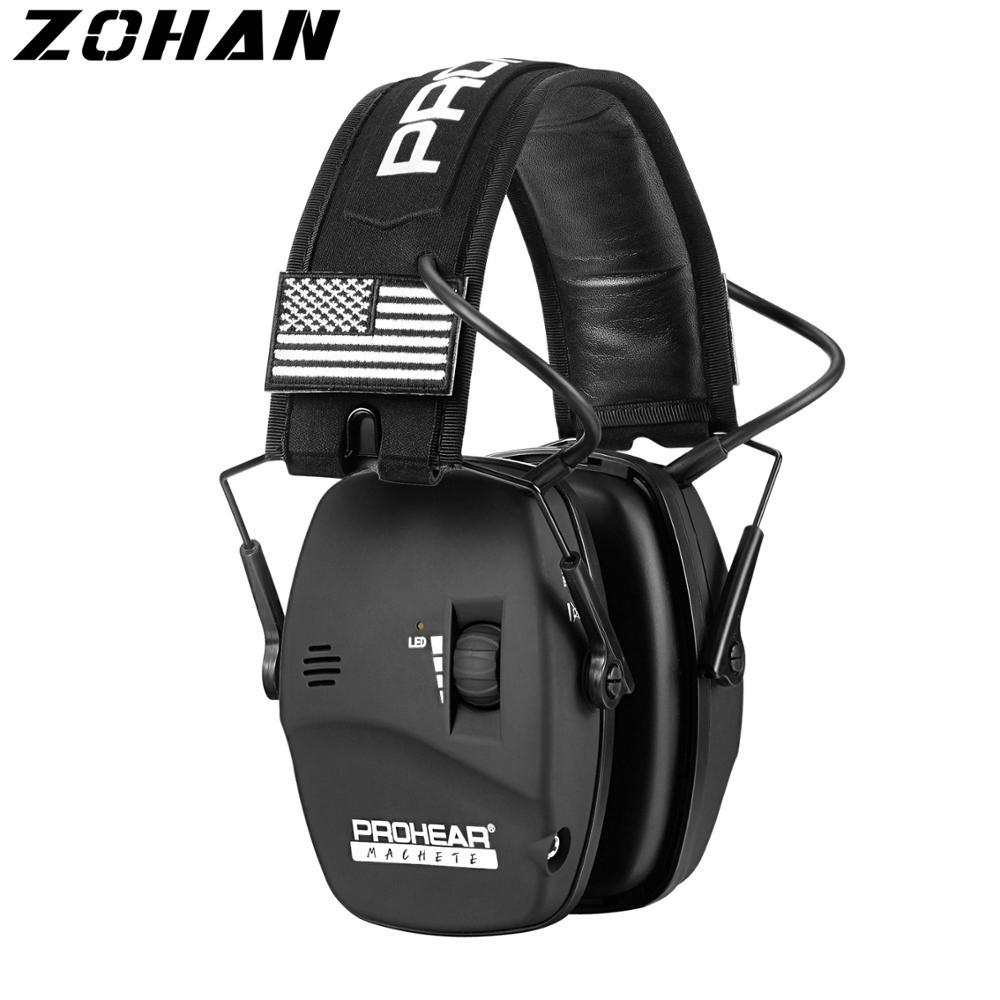 ZOHAN cache-oreilles de tir Protection auditive de tir électronique cache-oreilles dannulation de bruit NRR22db pour le défenseur de chasse réglable