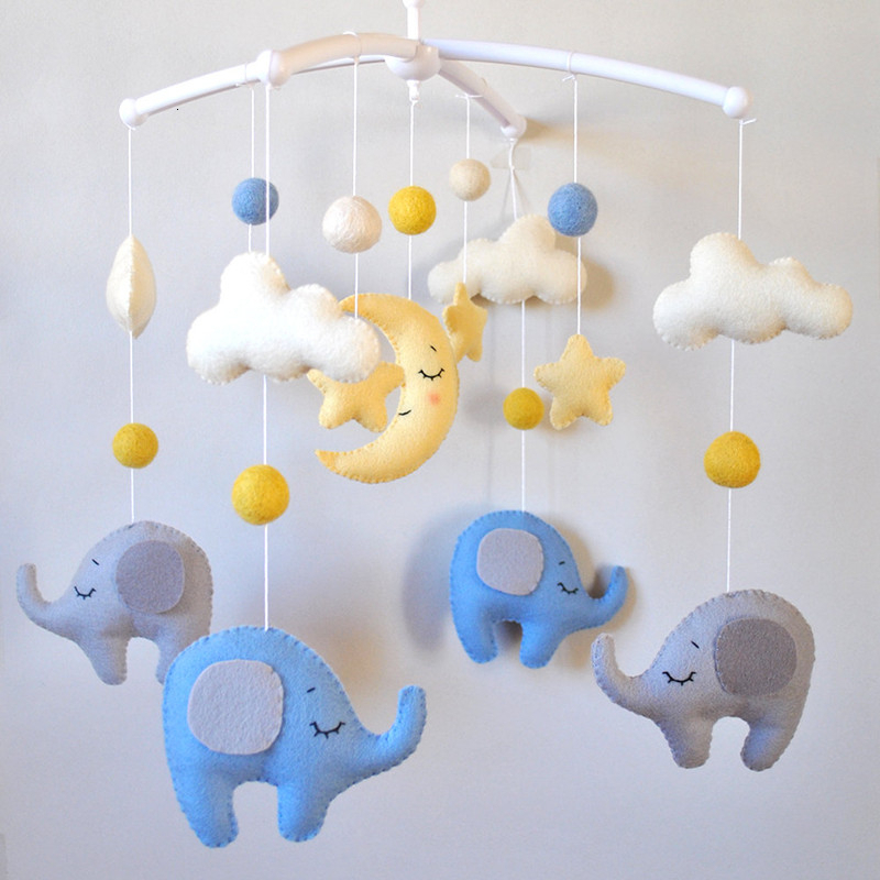 Baby Rattles Baby Crib Mobile Toy Bed Bell Baby Toys 0-12 Months Newborn Infant Toddler Kids Toy Assembled Toys Bebek Oyuncak