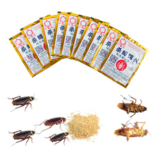 New 10Pcs Killing Cockroach Insecticide Bait Powder Kill Roach Insect Killer Anti Pest Reject Control Poison Trap
