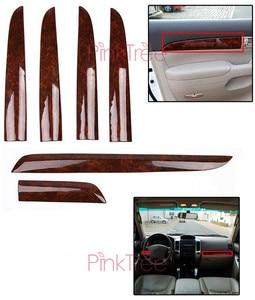 Image 3 - Für Toyota Land Cruiser 120 Prado FJ120 2003 4 5 6 7 2009 Holz Farbe Air Vent Abdeckung Tür Trim abdeckung Auto Innen Zubehör
