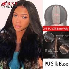 Onda do corpo peruca rxy moda 2x5 base de seda do plutônio fechamento do laço peruca 100% remy cabelo humano brasileiro para preto feminino natural linha fina