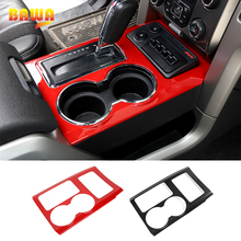 BAWA Gear Shift Panel Covers Decoration Trim Accessories for Ford F150 SVT RAPTOR 2009 2014 Automotive Interior Stickers