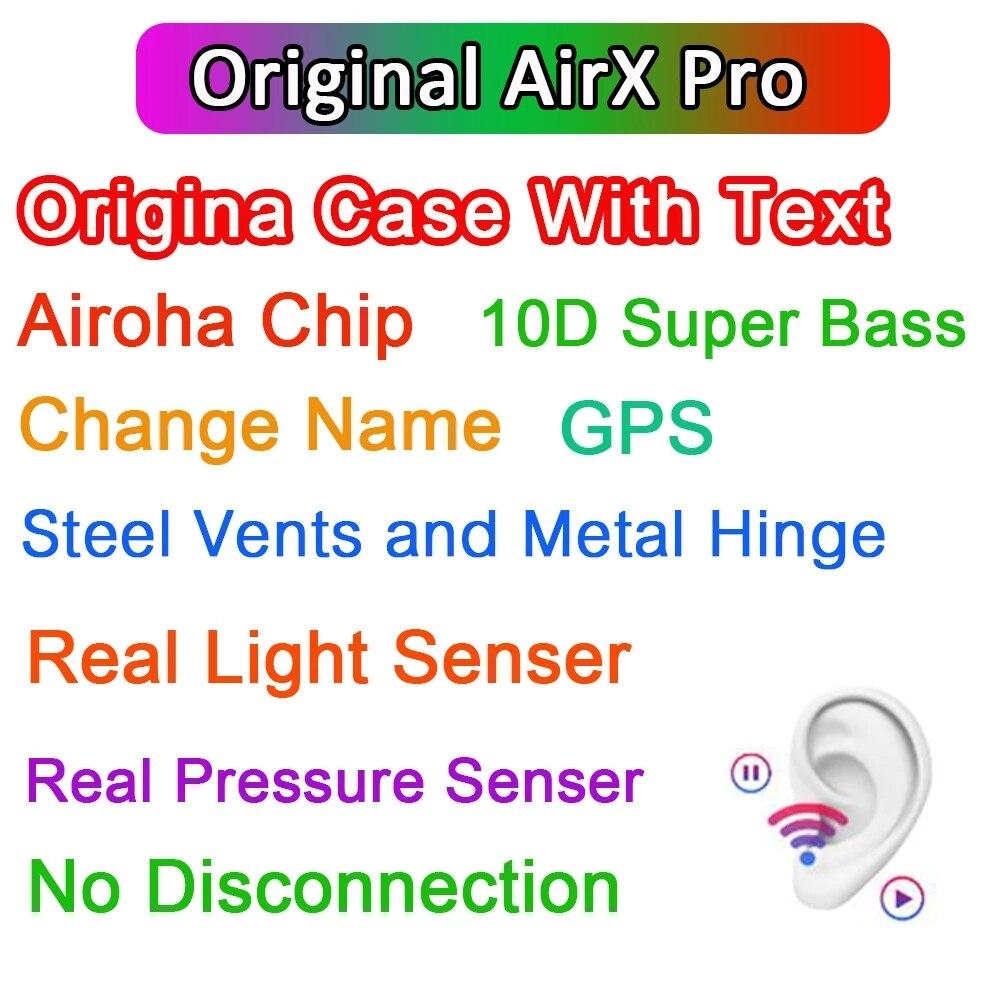 100% ANC Airx pro ANC TWS Drahtlose Bluetooth копье шумоподавление Air3 10D Super bass PK i99999 Plus i900000 MAX mit tex