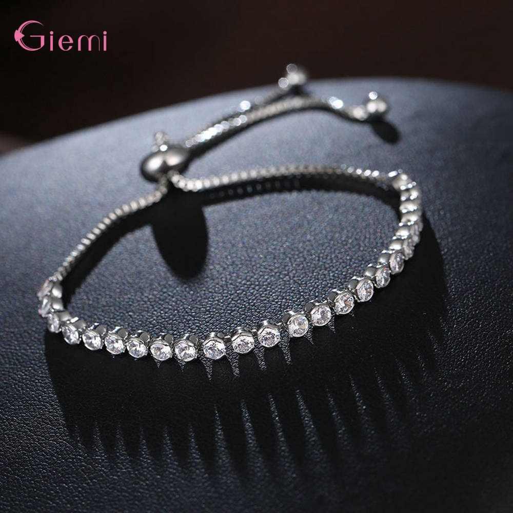 Trendy Marke Frauen 925 Sterling Silber Armbänder Koreanische Trend Zirkonia Armbänder Einstellbare Pulsera Mujer Schmuck
