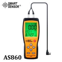 Escala de medição ultrassônica da chapa metálica de digitas do calibre da espessura: 1.0 a 300mm (aço) sensor esperto as860 do medidor da velocidade sadia