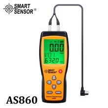 Medidor de espesores por ultrasonido Digital, medición de chapa metálica, rango: 1,0 a 300mm (acero), medidor de velocidad de sonido, Sensor inteligente AS860