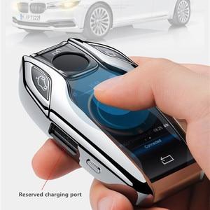 Image 2 - TPU Caso Display LED Totalmente Chave Do Carro Chave do Caso Da Tampa para BMW 5 7 série G11 G12 G30 G31 G32 i8 I12 I15 G01 X3 G02 X4 G05 X5 G07 X7