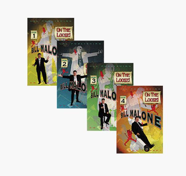 BILL MALONE - ON THE LOOSE(1-4) , Bill Malone - Here I Go Again (1-3) ,  Bill Malone - Malone Meets Marlo(1-6)  Magic Tricks