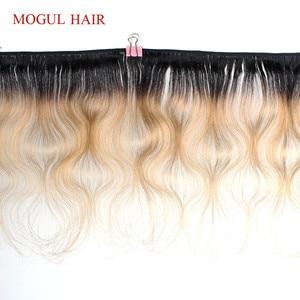 Image 2 - モーグル毛 4/6 バンドル 50 グラム/ピース 10 12 インチの t 1B 27 ダークルート蜂蜜ブロンドブラジル実体波非レミー人間の髪バンドル