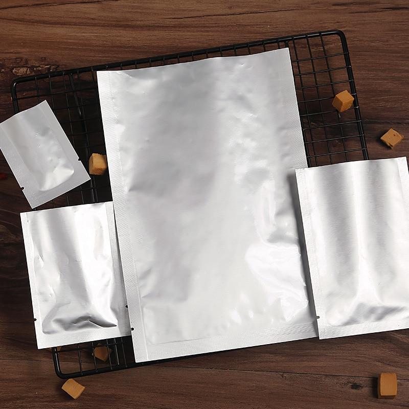 100pcs Multisize Zip Lock Storage Pouches Food Storage Package For Kitchen Tools Vacuum Sealer Aluminum Foil Mylar Bags