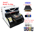 Automatic dtg A4 dark T-shirt Jeans textile fabric Printer with Textile ink set with Touch screen &White ink cycle system
