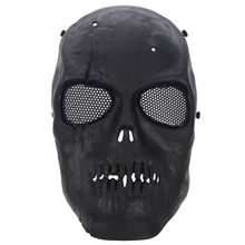 Airsoft Mask Skull Full Protective Mask    Black