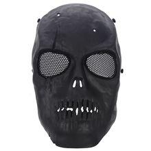 Airsoft Masker Schedel Volledige Beschermende Masker Zwart
