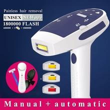 Máquina de depilación láser IPL flash para mujer, dispositivo de depilación permanente, bikini, depilador a láser, 1800000