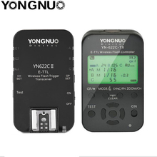 Yongnuo YN 622C II + YN622TX wyzwalacz lampy błyskowej nadajnik/odbiornik TTL Flash wyzwalania dla Canon 5D 7D YN622