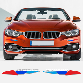 Front Bumper Decal New M Performance Stickers For BMW e90 e46 e39 e60 f30 f31 g30 f85 f16 f10 f34 x3 x4 x5 e70 f15 x6 M3 M5 Z4 image